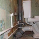 Замена труб канализации комбинирование