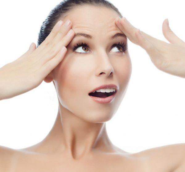 Как убрать морщины на лбу в домашних условиях быстро: правильное питание, массаж, народные средства и косметика