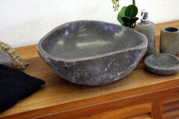 Раковина из речного камня риверстоун