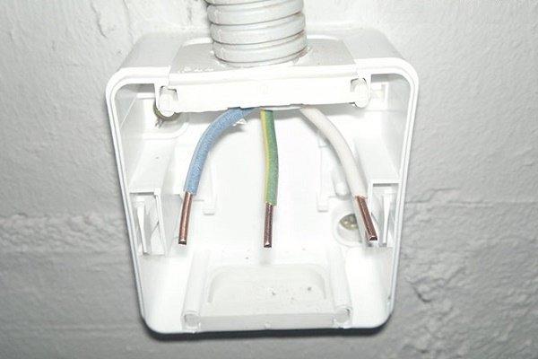 Подготока кабеля к подключению