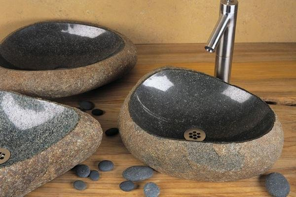 Раковина в ванную комнату из базальта