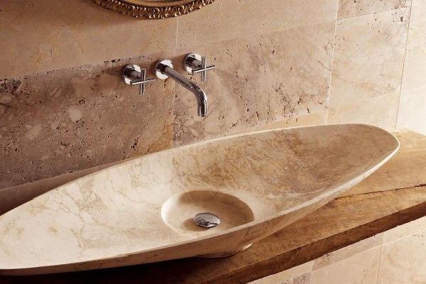 Раковина для ванной комнаты из мрамора