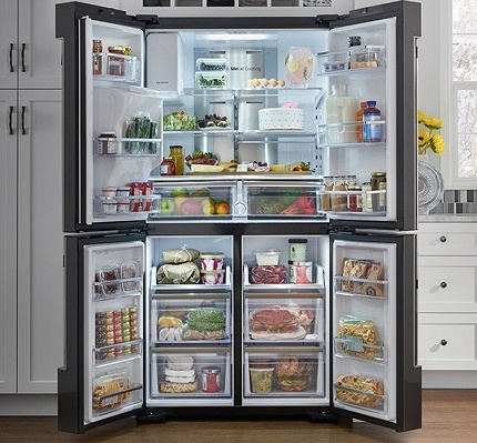 Зонированние большого холодильника