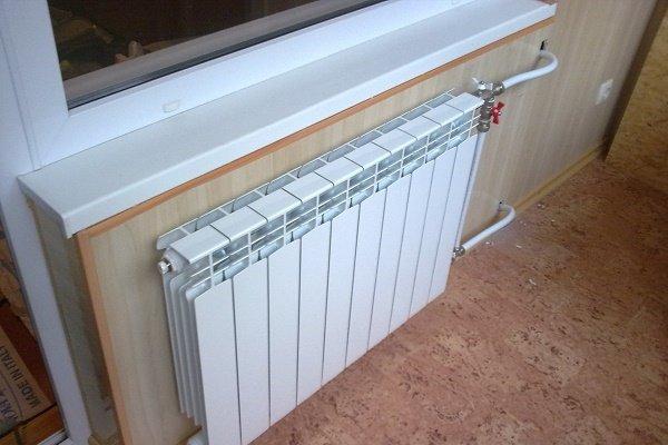 Шаровой кран на байпасе перед радиатором