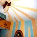 . Отделка потолка жидкими обоями. Инструкция по нанесению жидких обоев на потолок