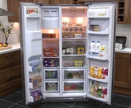 Полки и отсеки для продуктов в морозилке