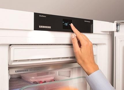 Регулировка температуры в морозильной камере