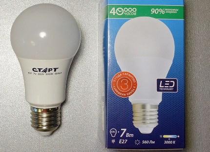 Маркировка светодиодных ламп