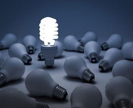 Лампы накаливания и компактный люминесцентный модуль