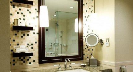 Освещение предметов мебели в ванной
