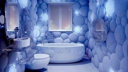 Несандартное освещение в ванной комнате