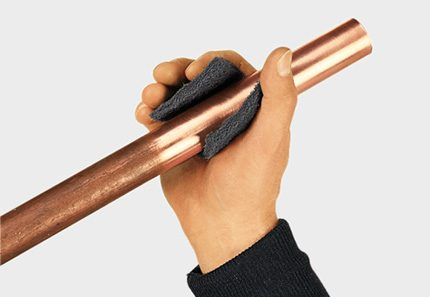 Подготовка медной трубы к пайке