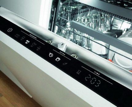 Панель управления в посудомойках Gorenje