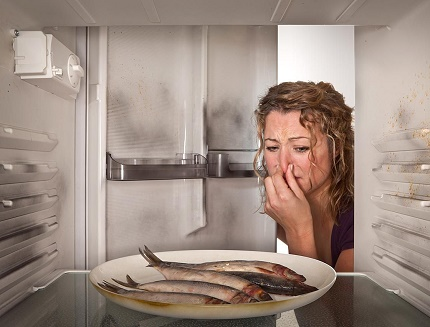 Открытое хранение в холодильнике продуктов со специфическим ароматом